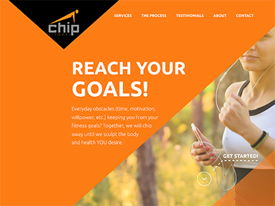 Image of the Chip Fitness website.