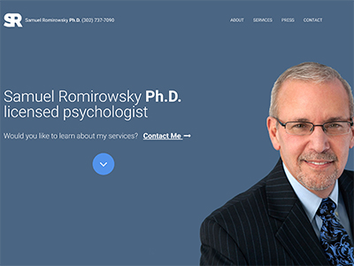 Image of the Samuel Romirowsky Ph.D. website.