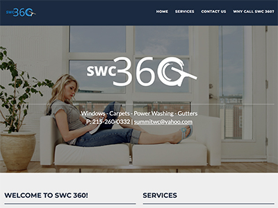 Image of the SWC360 website.